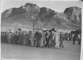 Cape Town, 23 April 1947. Review of ex-servicemen and women on Grand Parade.