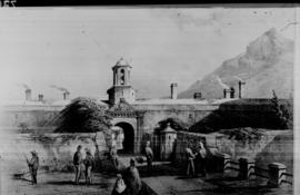 Cape Town, 1866. Entrance to Castle. (Painting)