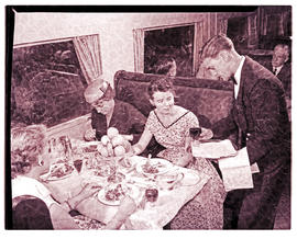 """1956. Blue Train dining car."""