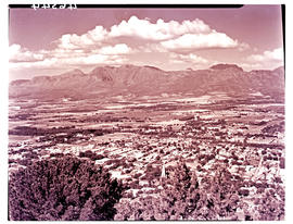 Paarl, 1939. View over Paarl valley.
