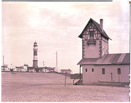 Swakopmund, South-West Africa, 1952. Lighthouse.