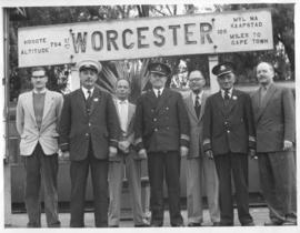 Worcester, May 1960. Stationmaster P Van der Walt and some of his staff.