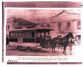 Port Elizabeth? First horse drawn tram between Market Square and North End.
