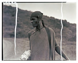 Transkei, 1940. Male wearing blanket.