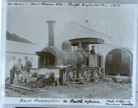 Port Alfred, 1874. First locomotive imported in South Africa 'Blackie' from Hawthorns & Compa...