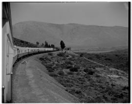 Hex River Pass. Class 15F with the Pilot Train en route to Cape Town, with a C-22 articulated sal...