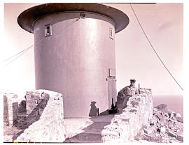 Cape Town, 1946. Remains of Cape Point original lighthouse built in 1857.