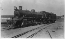 SAR Class 20 No 2485 was built at the Pretoria workshops using a boiler from a Class 19A, cylinde...