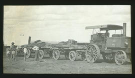 SAR tractor No 8 with trailers.