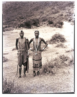 Transkei, 1940. Two males standing.