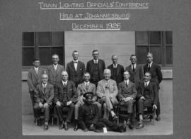 Johannesburg, December 1926. Conference of train lighting officials.