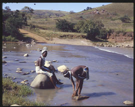 Zululand, 1961. Women at the Insingi River.