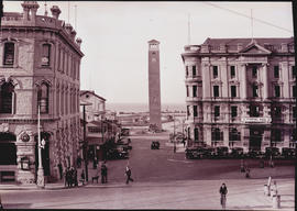 Port Elizabeth, 1932. Queen Street with the Campanile in the distance.