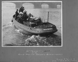 SAR&H 45 foot motor launch 'Rooibank' with VIPs.