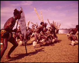 Zulu tribal dancing.