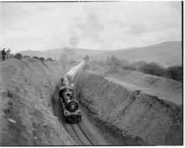 Eastern Cape, March 1947. SAR Class 19D Nos 2712 and 2723 leading and SAR Class 19D No 2724 banki...