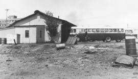Pretoria,September 1963. SAR bus at old mule stables. Historical.