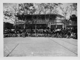 Royal tour by Crown Prince of Portugal, July 1907. Crown Prince at Governor's Residence with dele...