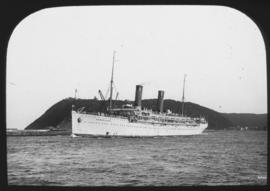 Durban. 'Balmoral Castle' leaving Durban harbour.
