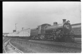 Johannesburg, 16 March 1934. SAR Class 16B No 809 hauling the Royal Train with Prince George from...