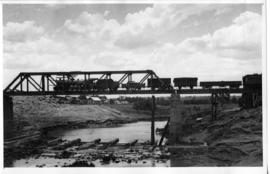 Standerton, 11 January 1945. Damaged Vaal River bridge fully repaired after accident.