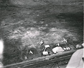 Durban, 1935. Aerial view of airport.