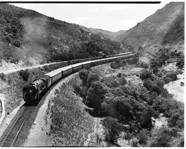 Tulbagh district, 1950. Blue Train with SAR Class 15F.