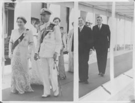 Salisbury, Southern Rhodesia, 7 April 1947. Queen Elizabeth and King George VI arriving for openi...