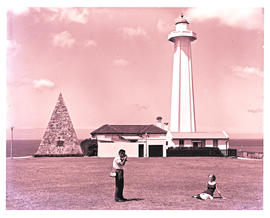 Port Elizabeth, 1961. Lighthouse at Donkin Reserve.