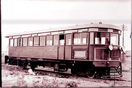 Durban, 1930. SAR railcar No RM14 built in Durban workshops. Later used on Postmasburg branch.