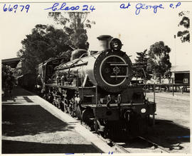 George, 1957. SAR Class 24 with passenger train.