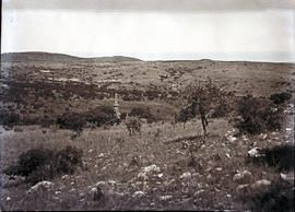 Vryheid district, 1937. Piet Retief memorial, view from top of hill of massacre at Dingaan's kraal.