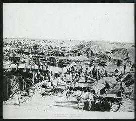 Kimberley, 1871. Diamond mine.