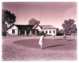 """Kimberley, 1942. Golf clubhouse and green."""