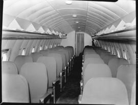 Arrival of Avro York ZS-ATR 'Impala', interior.