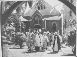 Durban, 23 March 1947. Royal Family after attending a church service.