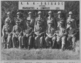 SAR&H Brigade. Officers of the Headquarters and Composite Company.