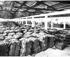 Port Elizabeth, 1930. Wool bales for export.