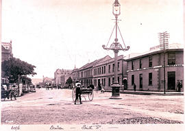 Durban. Rickshaws and carts in Smith Street.