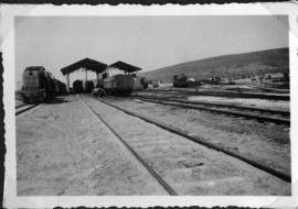 Nahariya, Palestine, circa 1944. Whitcomb and 'Rod' 2-8-2 locomotives at the Az-zib depot of the ...