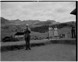 Royal Natal National Park, Drakensberg, 14 to 16 March 1947. Prime Minister JC Smuts behind the l...
