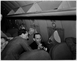 May 1946. Trip to Cape Town with SAA Douglas DC-4 ZS-AUA 'Tafelberg', interior.
