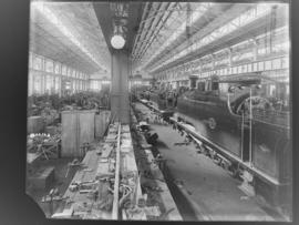Durban. Interior of NGR erecting workshop with NGR No 253 in the foreground.