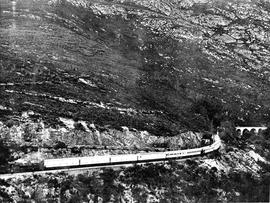 George district, 1925. SAR Classes 7 and GD with Royal Train in Montagu pass.
