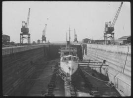 Durban. Ship in graving dock
