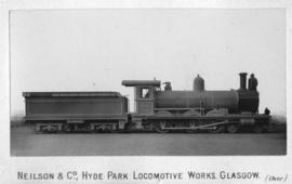 Cape 6th Class, later SAR Class 6B manufactured at the Hyde Park Locomotive Works, Glasgow.