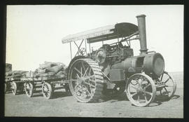 Fowler tractor with trailers.