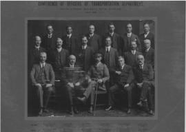 Durban, July 1918. Conference of senior SAR officers of the Transportation Department of the Nata...