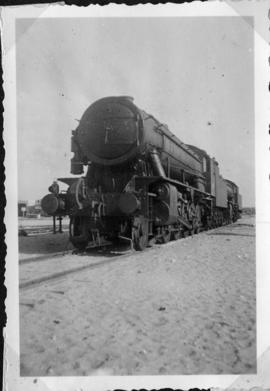 Nahariya, Palestine, circa 1944. An 'Austerity' 2-10-0 locomotive, one of four transferred from E...