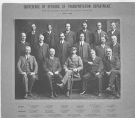 July 1918. Conference of Officers of the SAR Transportation Department, Natal Division. (J Strang...
